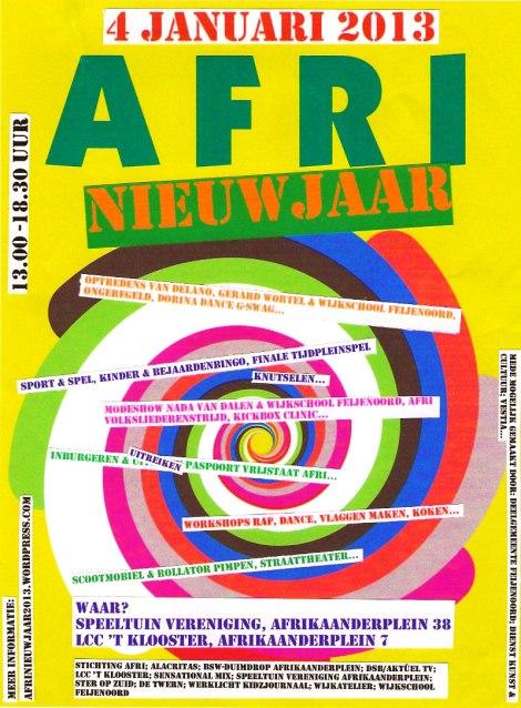 AFRI Nieuwjaar poster